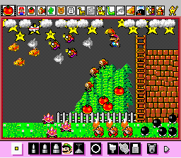 Mario Paint (Joystick) - ooooo a star!...wait?? Flying fish?!?! - User Screenshot